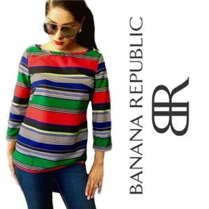 Banana Republic Multi-Colored striped Blouse XS